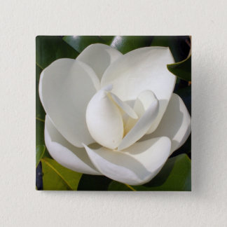 De Bloei van de magnolia Vierkante Button 5,1 Cm