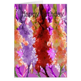 De Bloei van de stokroos van Elegantie, Verjaardag Briefkaarten 0