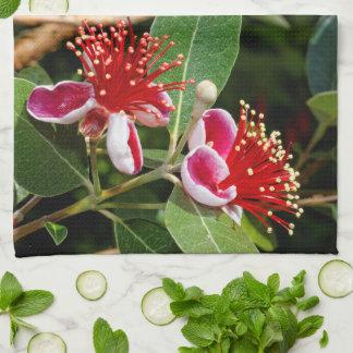 De bloeiende Guave/Guavasteen van de Ananas Theedoek
