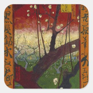 De bloeiende Sticker van de pruimboom