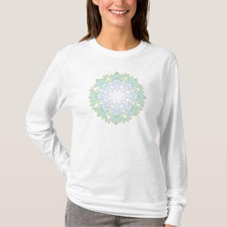 De bloeiende T-shirt van het Sleeve van Lotus
