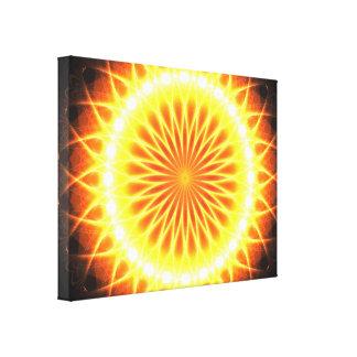 De Bloem Mandala van de zonneGloed Canvas Afdruk