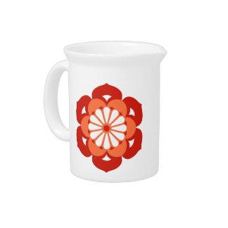 De Bloem Mandala van Lotus, het Sinaasappel van de Pitcher