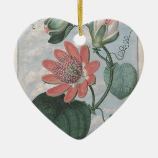 De Bloem van de hartstocht Keramisch Hart Ornament
