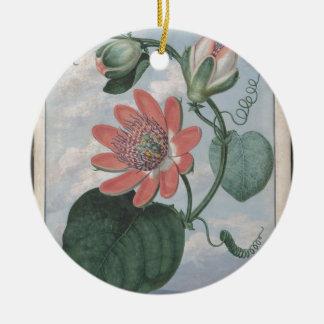 De Bloem van de hartstocht Rond Keramisch Ornament