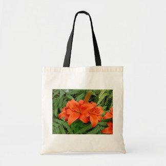 De bloem van de lelie - Iriserend sinaasappel Draagtas