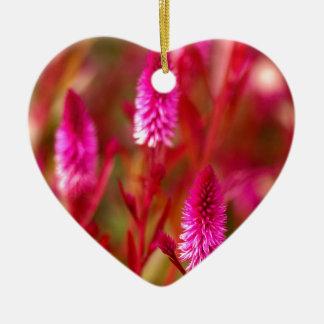 De Bloem van de pastelkleur Keramisch Hart Ornament