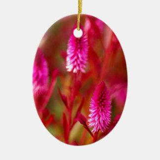 De Bloem van de pastelkleur Keramisch Ovaal Ornament