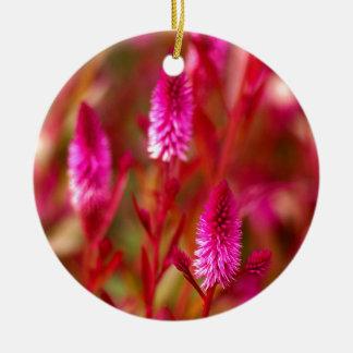 De Bloem van de pastelkleur Rond Keramisch Ornament