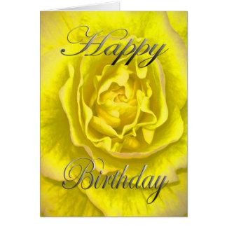De Bloem van de verjaardag in Geel en Roze Kaart