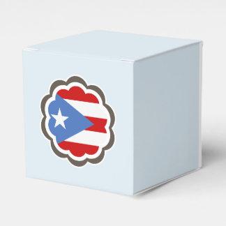 De Bloem van de Vlag van het Puerto Ricaan Bedankjes Doosjes