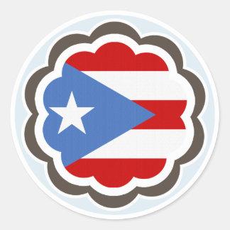 De Bloem van de Vlag van het Puerto Ricaan Ronde Sticker