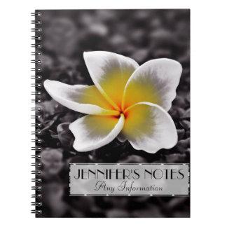 De Bloem van Frangipani Hawaï van Plumeria Notitieboek