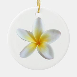 De Bloem van Frangipani Rond Keramisch Ornament