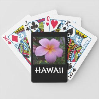 De Bloem van Hawaï Plumeria Poker Kaarten
