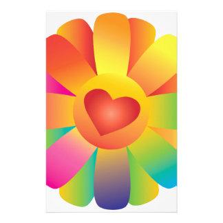 De Bloem van het Hart van de zonneschijn Briefpapier