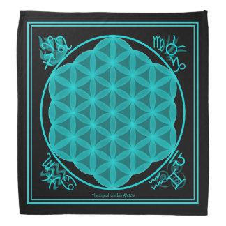 De bloem van het Leven 4 Elementen Aqua Bandana
