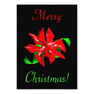 De Bloem van Kerstmis 12,7x17,8 Uitnodiging Kaart