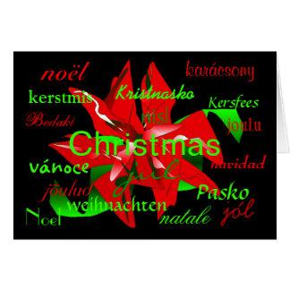 """De """"bloem van Kerstmis rond de Kaart World"""