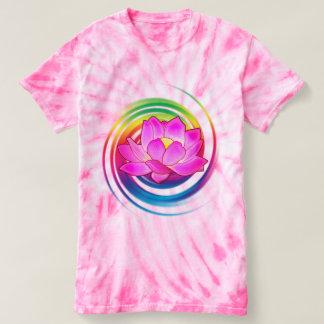 De Bloem van Lotus in Regenboog T Shirts