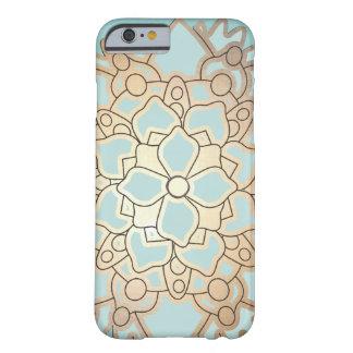 De Bloem van Lotus van het blauw en van het Barely There iPhone 6 Hoesje