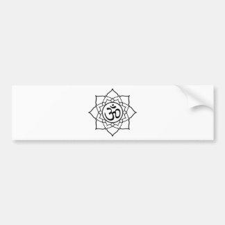 De Bloem van Lotus, Zwart met Witte Achtergrond Bumpersticker