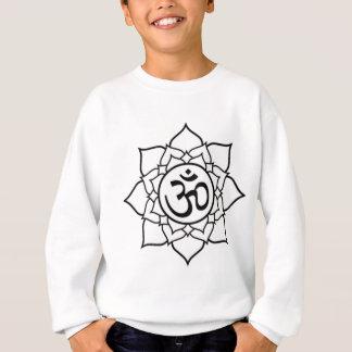 De Bloem van Lotus, Zwart met Witte Achtergrond Trui