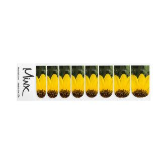 De Bloemblaadjes van de zonnebloem Minx Nail Folie