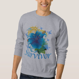 De bloemblauw van de overlevende trui