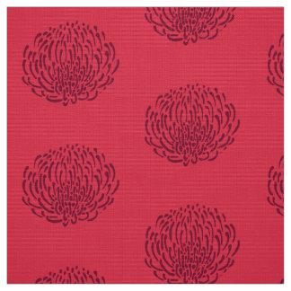De bloemdruk van Protea: rood Stof