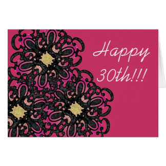 De bloemen 30ste Kaart van de Verjaardag
