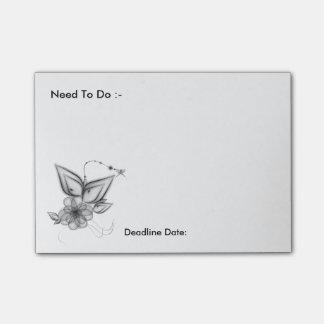 De bloemen Behoefte van het Motief om de Nota's Post-it® Notes