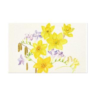 De bloemen en de katjes van de lente canvas print