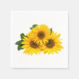 De bloemen Gele Bloemen van het Huwelijk van het Papieren Servetten