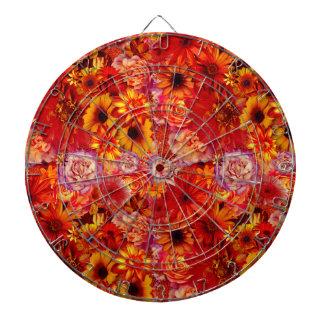 De bloemen Heldere Rijke Roodgloeiende Madeliefjes Dartbord