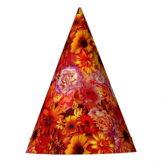 De bloemen Heldere Rijke Roodgloeiende Madeliefjes Feesthoedjes
