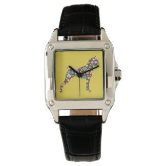 De bloemen Hond van de Bokser Horloges