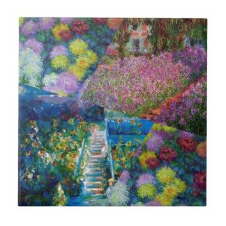 De bloemen in de tuin van Monet zijn uniek Tegeltje