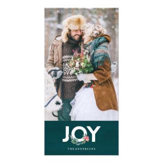 De bloemen Kaart van de Foto van de Vreugde