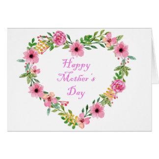 De bloemen Kaart van de Moederdag van het Hart