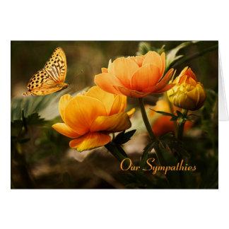 De bloemen Kaart van de Sympathie van de Vlinder