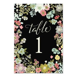 De bloemen Kaarten van het Aantal van de Lijst van 8,9x12,7 Uitnodiging Kaart