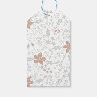 De bloemen Labels van de Gift van de Vakantie van Cadeaulabel