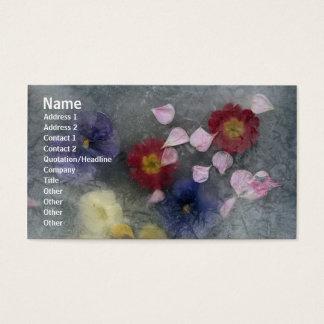De bloemen namen de Kaart van het Profiel van Visitekaartjes