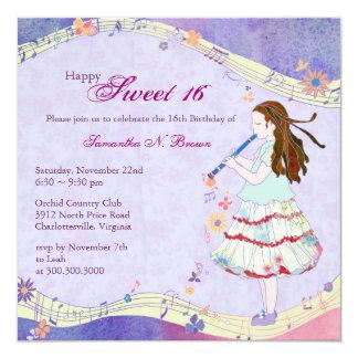 De bloemen Partij van de Verjaardag van de Muse Kaart