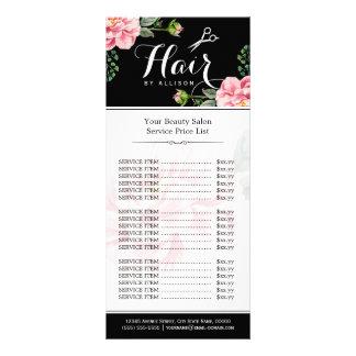 De bloemen Prijslijst van de Salon van de Reclamekaart