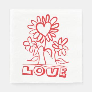 De bloemen Rode Partij van het Huwelijk van de Wegwerp Servet