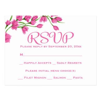 De bloemen Roze Fuchsiakleurig Bloemen van de Briefkaart