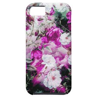 De Bloemen roze paarse witte zwarte van Tough iPhone 5 Hoesje