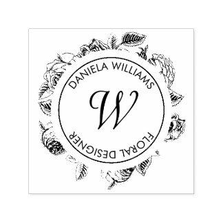 De Bloemen RubberZegel van het vintage Monogram Zelfinktende Stempel